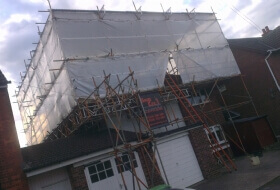 Temporary Roof Scaffold in Bedford