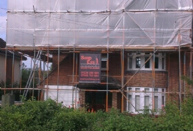 Temporary Roof, Loft Conversion Scaffold in Biggleswade