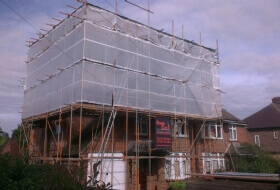 Temporary Roof, Loft Conversion Scaffold Biggleswade