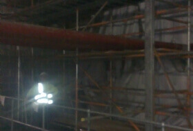 Fire Curtain Scaffold Asda Bedford