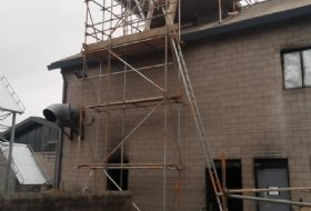 Chimney Stack Scaffold in Corby