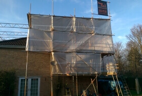 Temporary Roof Scaffold in Milton Keynes