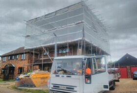 Temporary Roof Scaffold in Harpenden